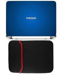 Anwesha's Reversible Laptop Sleeve With Laptop Skin - Samsung Turn on Tomorrow