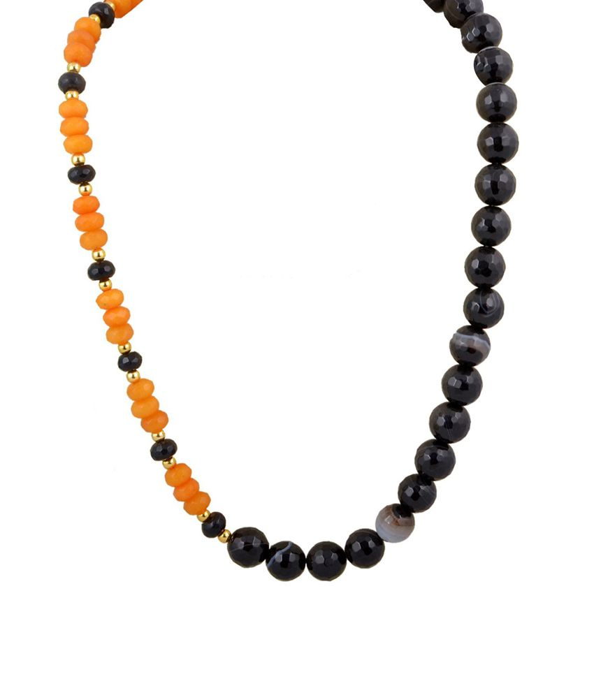 Sthri Black Alloy Necklace Set-A1