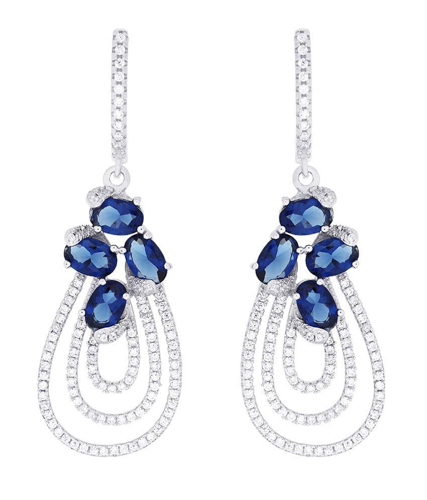 Gemtogems Silver 92.5 Sterling Silver Blooming Earrings