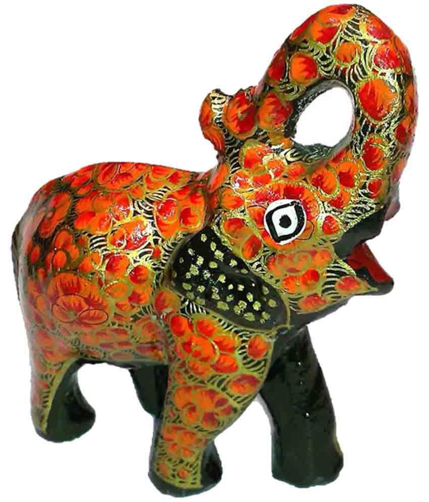 Kashmir Handicrafts Paper Mache Angry Elephant Buy Kashmir