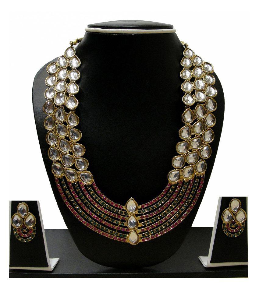 Zaveri Pearls Alloy Kundan Necklace Set