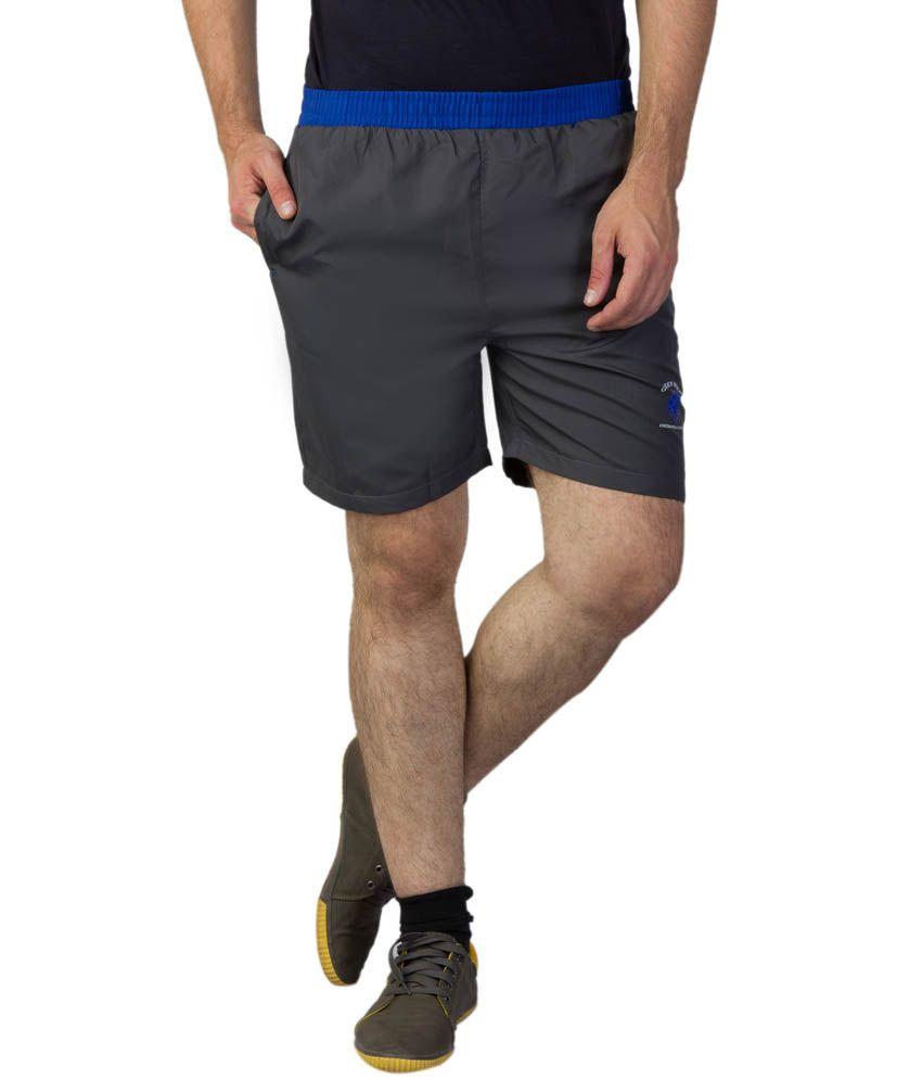 Greenwich United Polo Club Grey Polyester Shorts