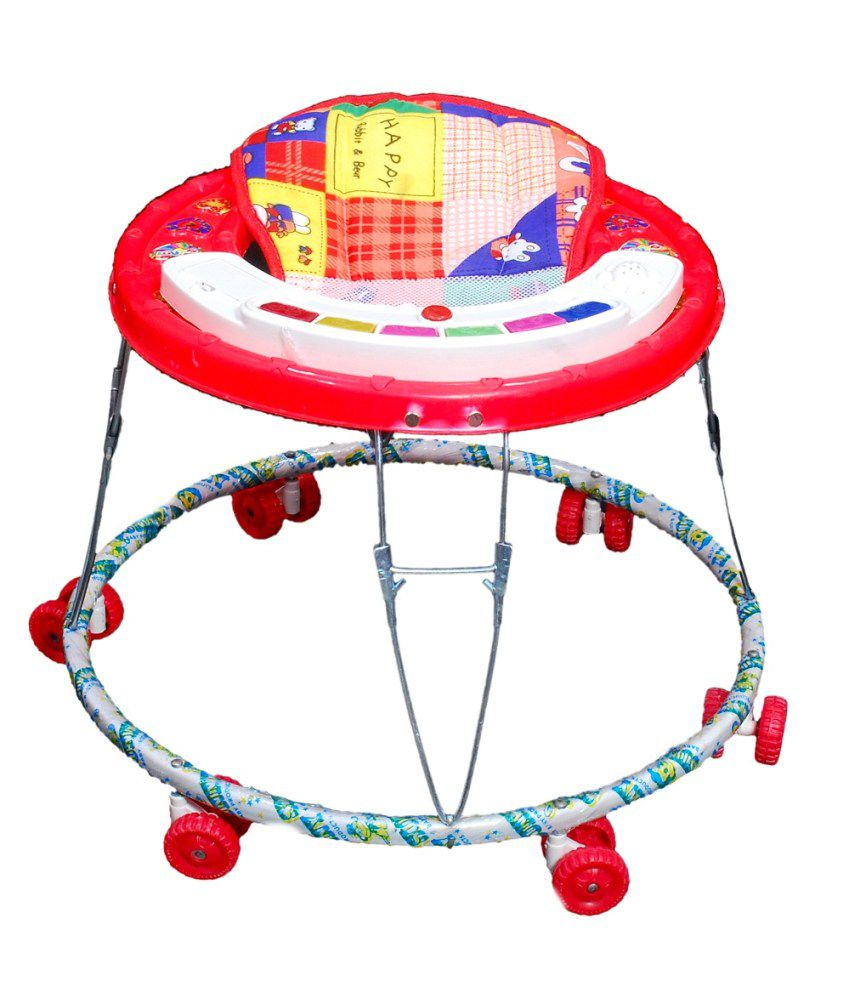 Brats N Angels Musical Baby Walker- Red