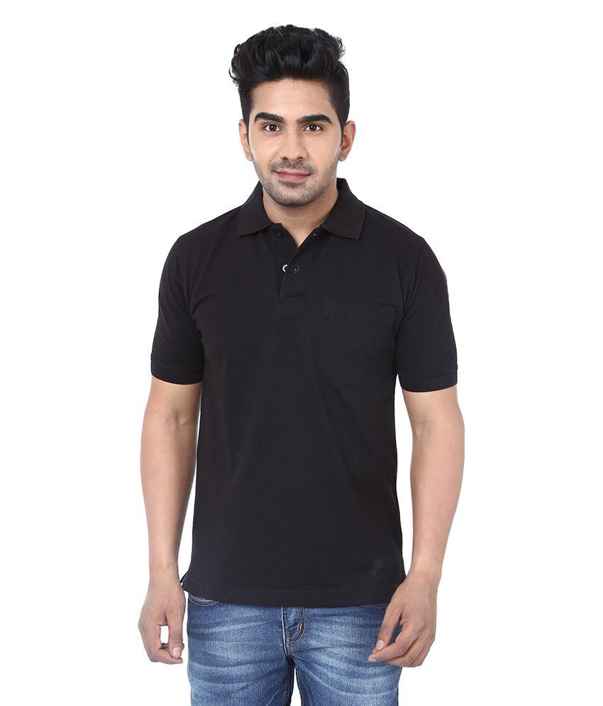 Crocks club black cotton polo t shirt buy crocks club for Black cotton polo shirt