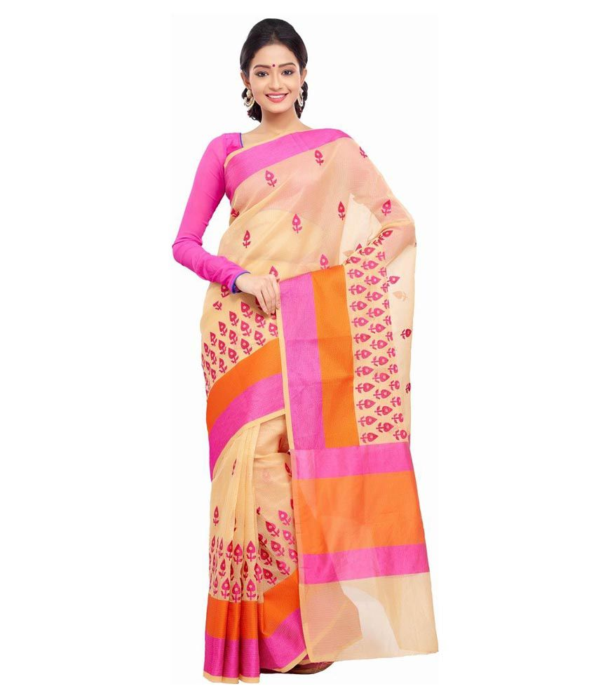 Savera Pink Cotton Saree