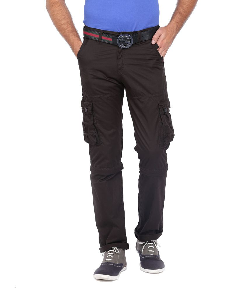 Sports 52 Wear Brown Cotton Cargo Pants