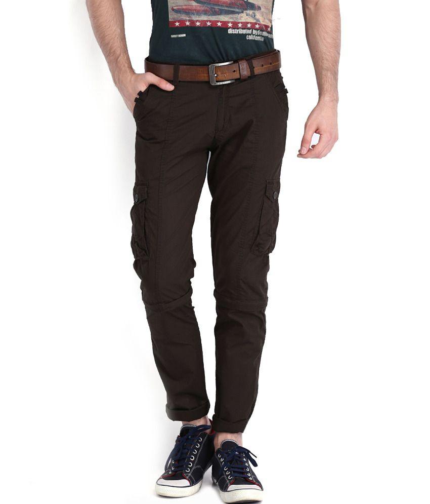 Sports 52 Wear Brown Cotton Cargo Pants