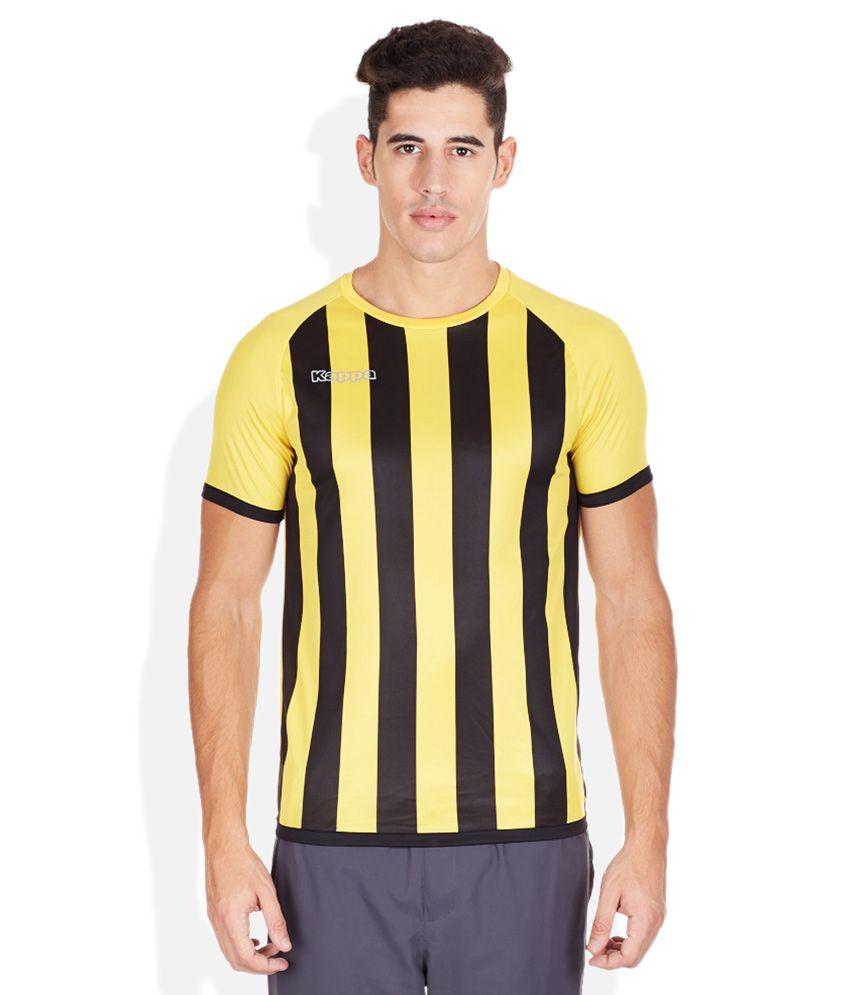 Kappa Yellow Round Neck T-Shirt