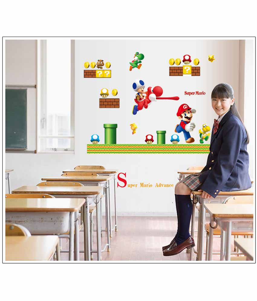 ... Oren Empower Super Mario Cartoon Child Bedroom Wall Sticker ...