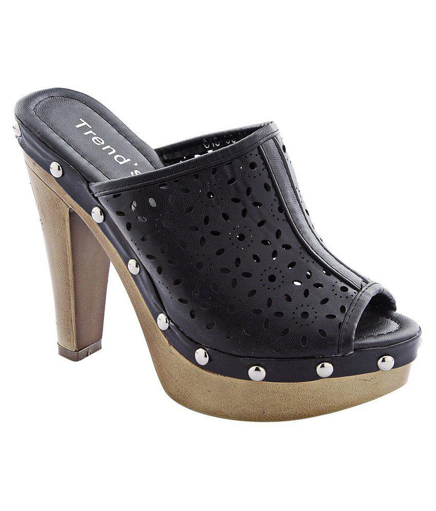 Devee Trend's Black Faux Leather High Heel Pumps