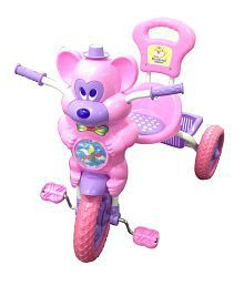 HLX-NMC KIDS FUN MOUSE MUSICAL TRICYCLE PINK/PURPLE