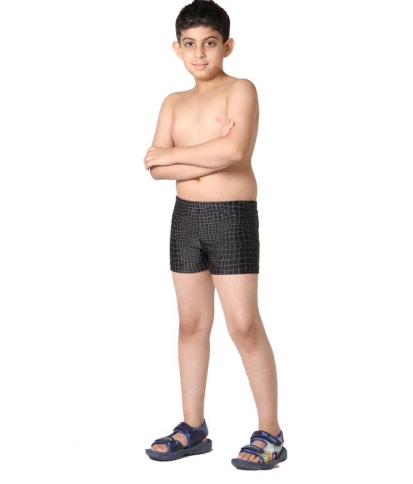Indraprastha Black Boys Swimming Trunks and Costume