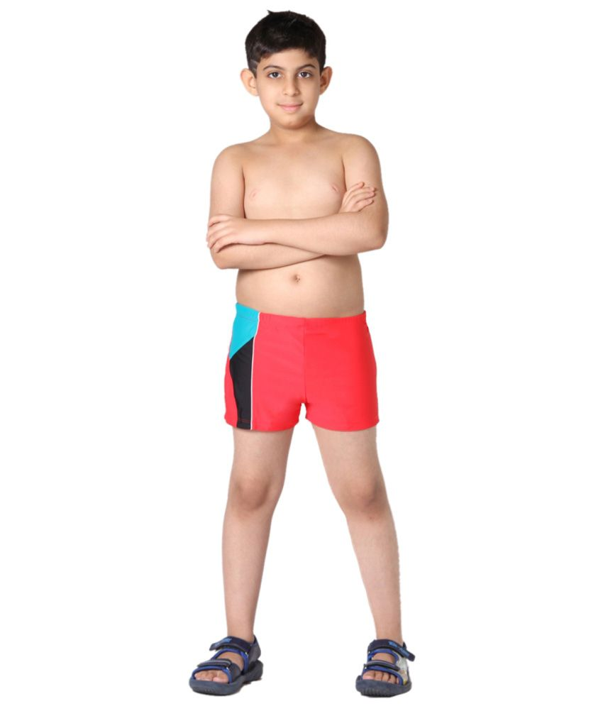 Indraprastha Red Boys Swimming Trunks and Costume/ Swimming Costume