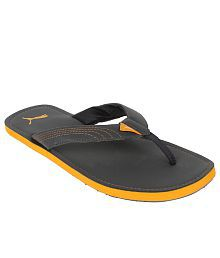 Puma Ketava Grey and Orange Flip Flops