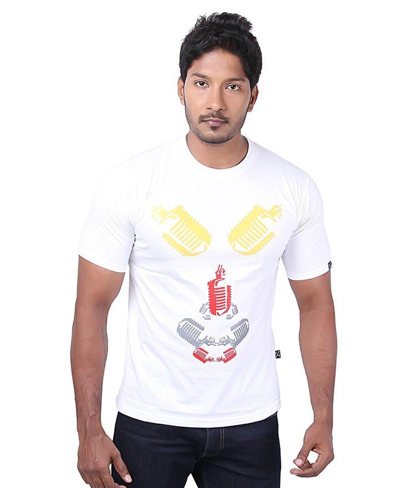 Fx4 White Cotton T Shirt