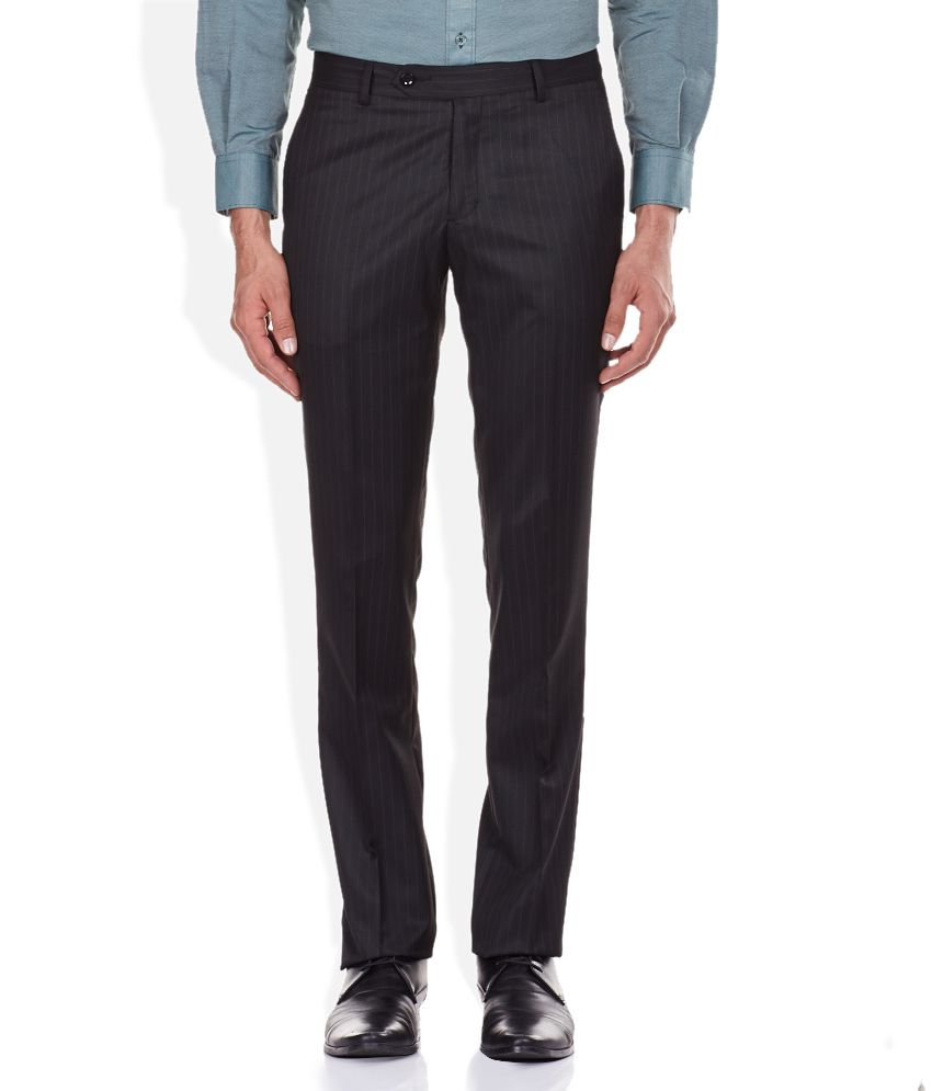 John Players Black Slim Fit Trousers