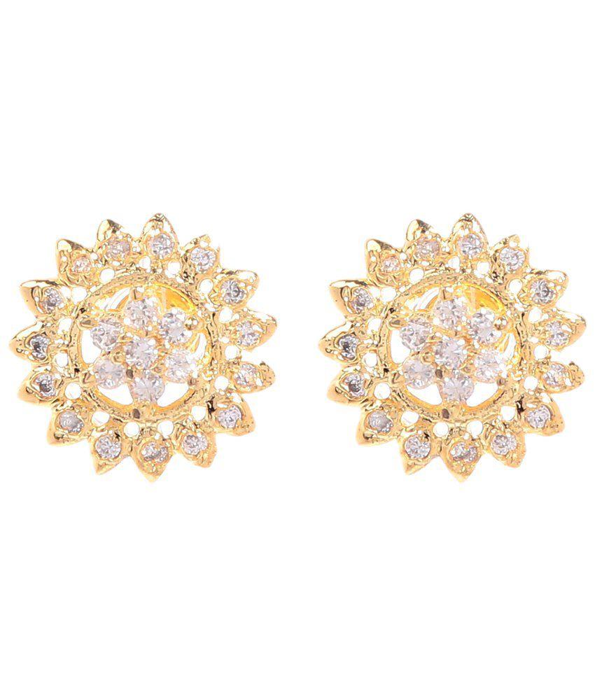 GoldNera Golden Gemstone Sukanya Stud Earrings