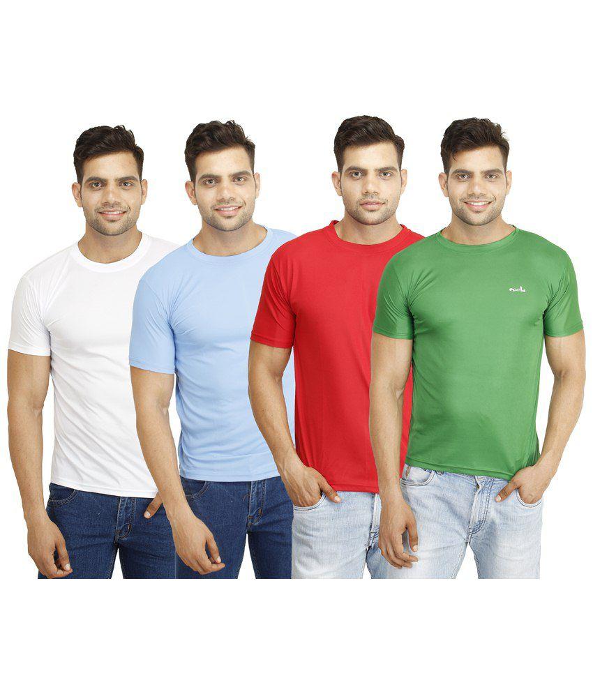 Eprilla Classic Pack of 4 Multicoloured T Shirts for Men