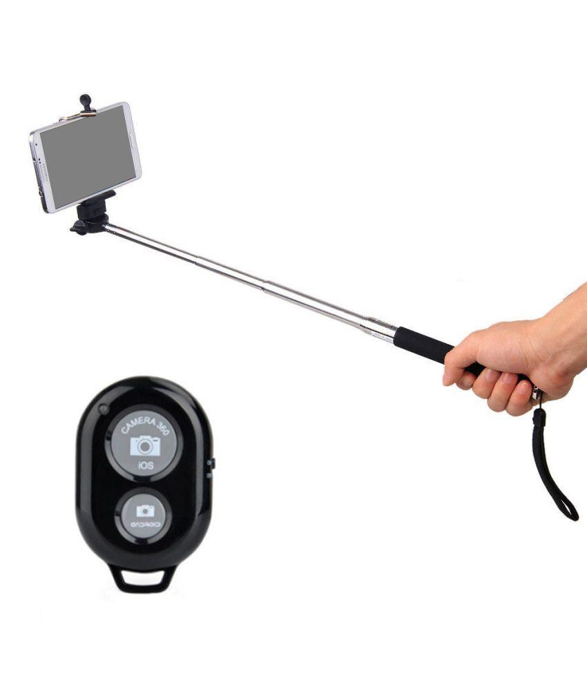 kifayati selfie stick with bluetooth remote shutter selfie sticks accessories online at low. Black Bedroom Furniture Sets. Home Design Ideas