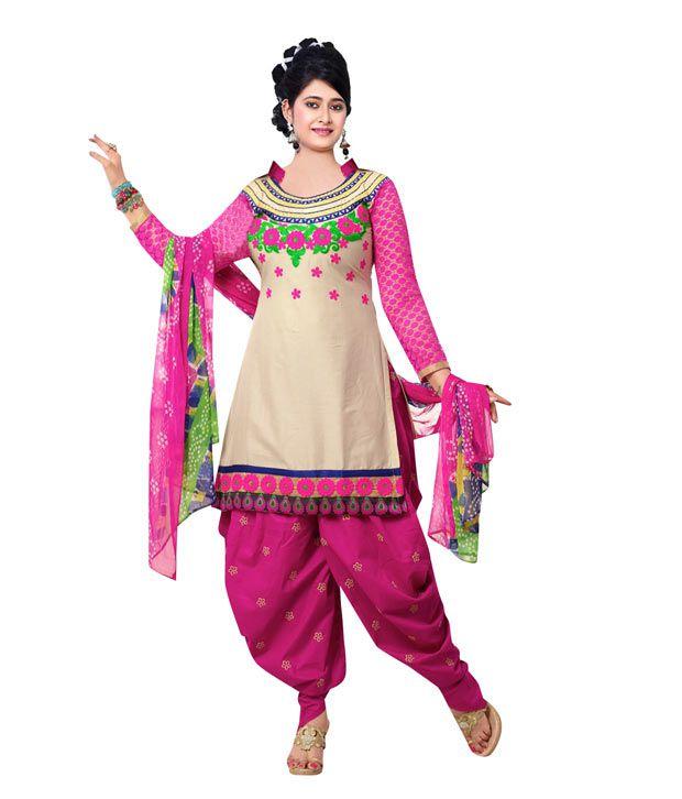 Kriti Multi Faux Georgette Unstitched Dress Material