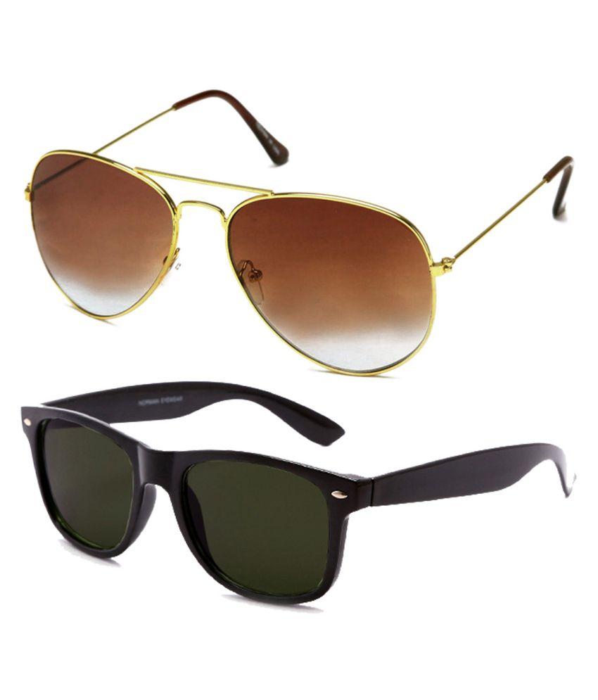 Neolithic bklwfr-20024 Round Sunglass With Wayfarer Sunglasses