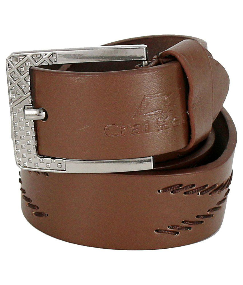 Hello Brown Pin Buckle Casual Belt