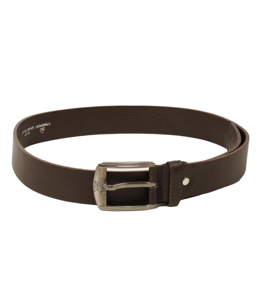 Trendz Deal Brown Leather Pin Buckle Belt For Men