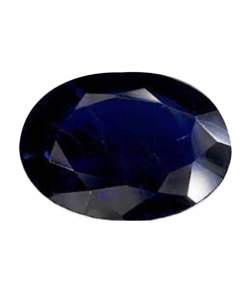 Anmol Ratna Certified Natural Blue Sapphire Neelam 8.31 Carat Suggested For 9.25 - 9.50 Ratti Standard Quality