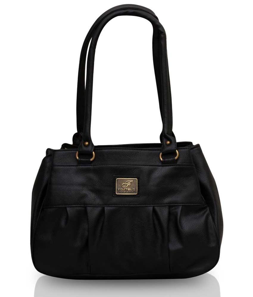 Fostelo Black P.U. Zip Shoulder Bag - Buy Fostelo Black P.U. Zip Shoulder  Bag Online at Best Prices in India on Snapdeal 4bdaffcc6d