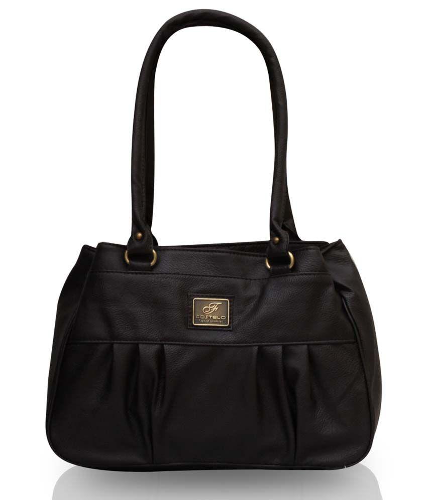 Fostelo Brown P.U. Zip Shoulder Bag