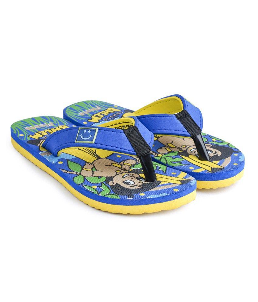 cbc921f207edb6 Frestol Blue Rubber Slippers   Flip Flops For Kids Price in India ...