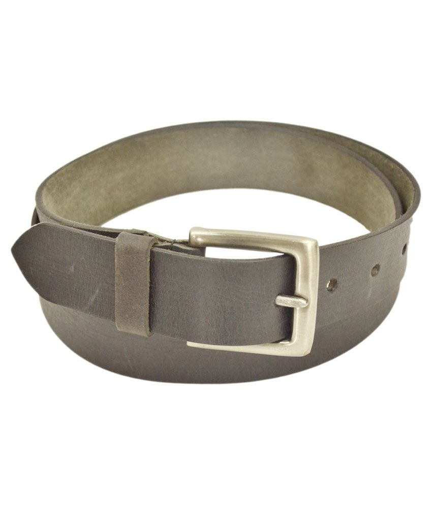 Kern Black Leather Casual Belt