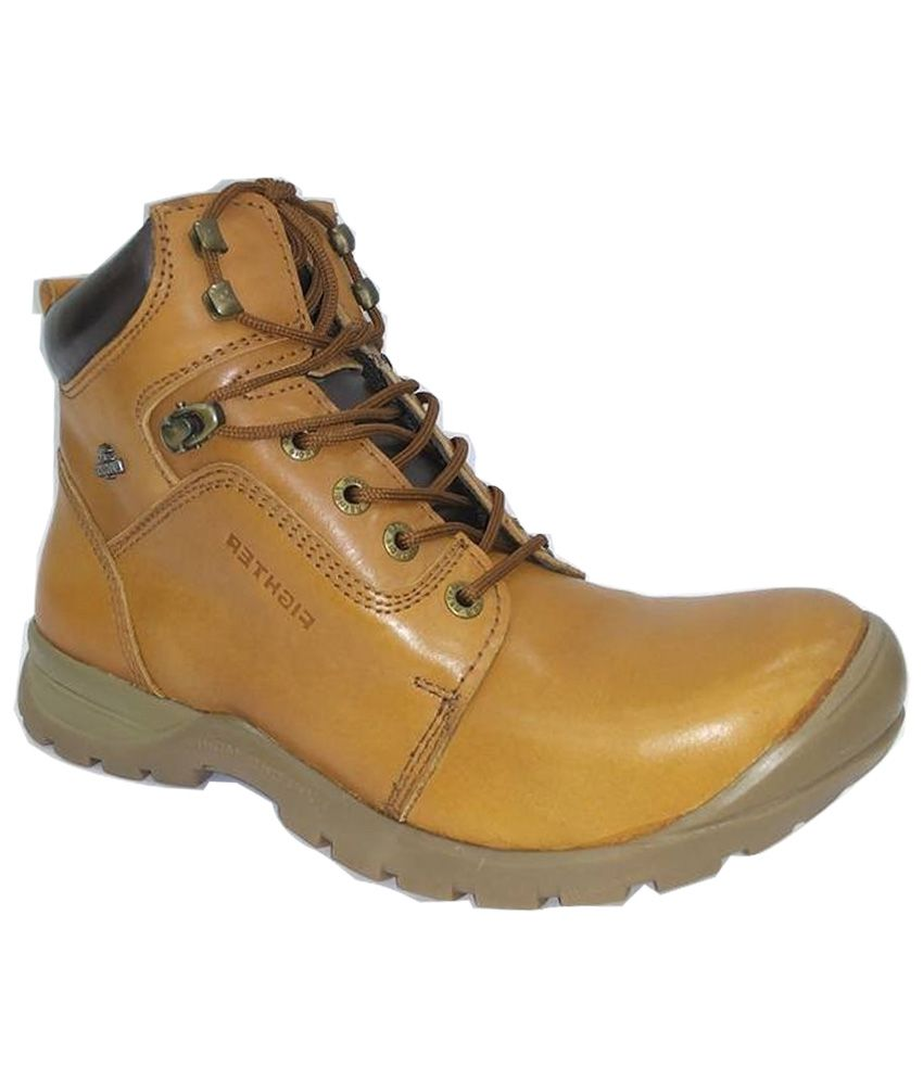 Anand Leathers Store Tan Leather Boots