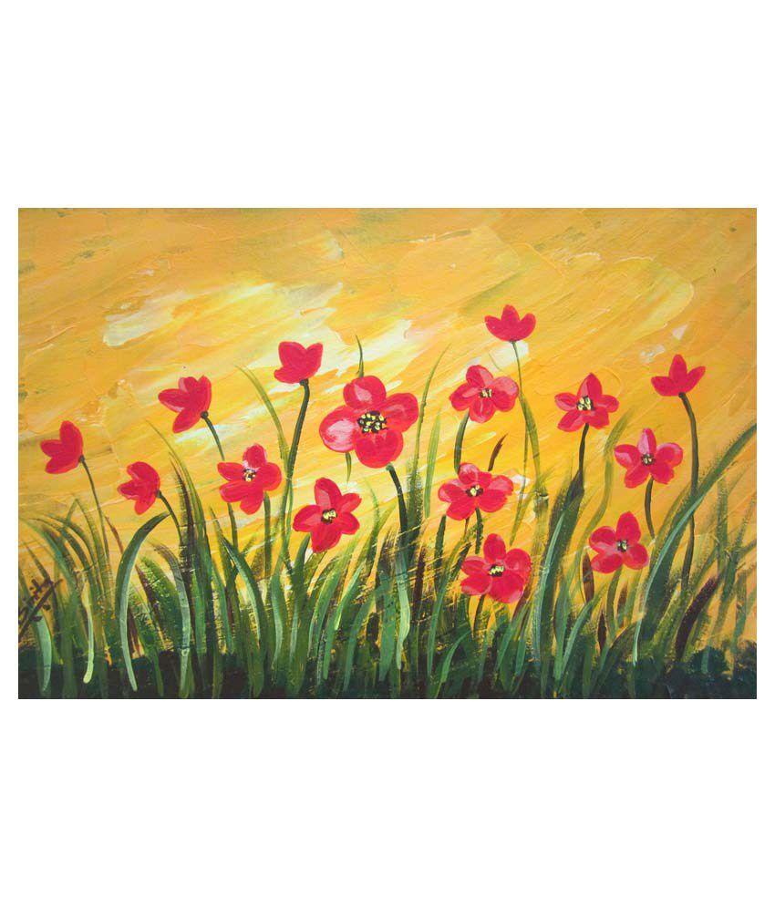 Binita Painting Arts Beautiful Flowers Grass Painting Buy Binita