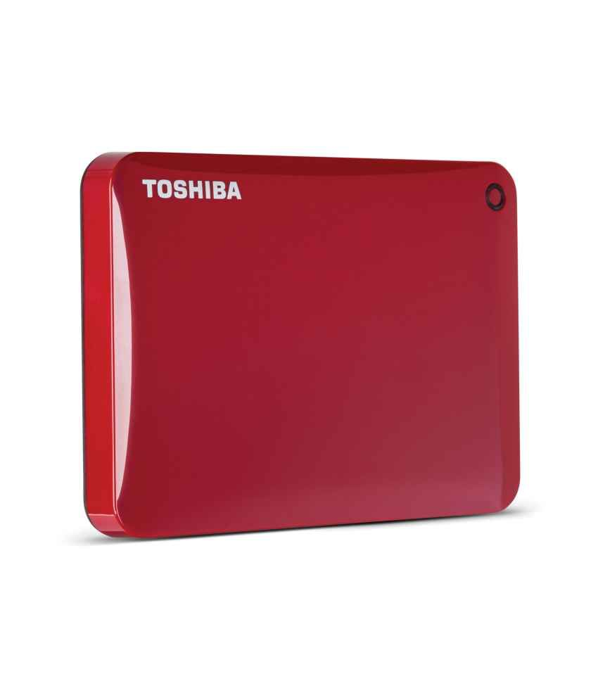 Toshiba Canvio Connect 1TB External Hard Drive (Red)