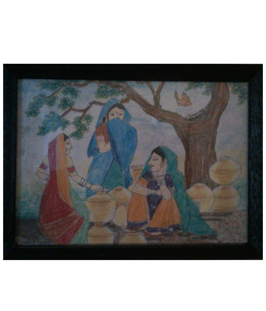 Nazarethlion Black Wooden Oil Painting With Frame