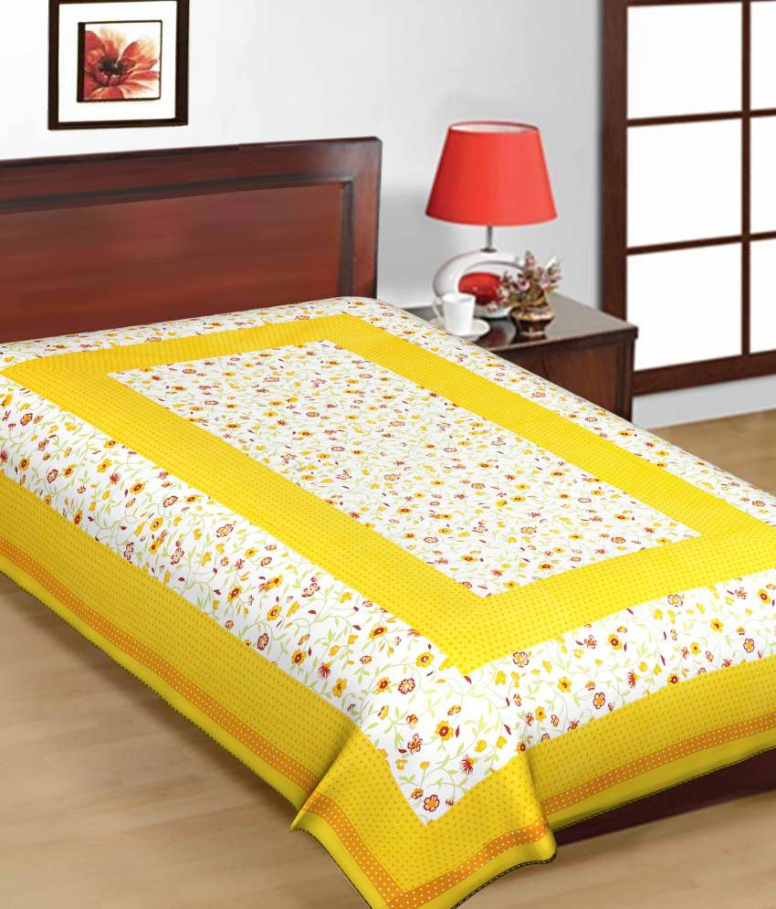 Uniqchoice Printed Cotton Single Bed Sheet Buy