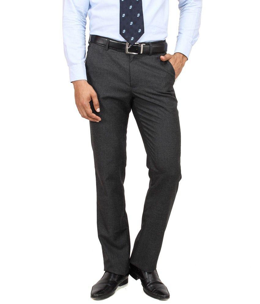 Yuvi Black Poly Viscose Trousers
