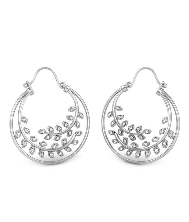 Candere Janet White Gold 14K Diamond Earrings