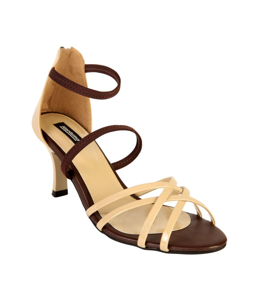 Karizma Beige Heeled Sandals