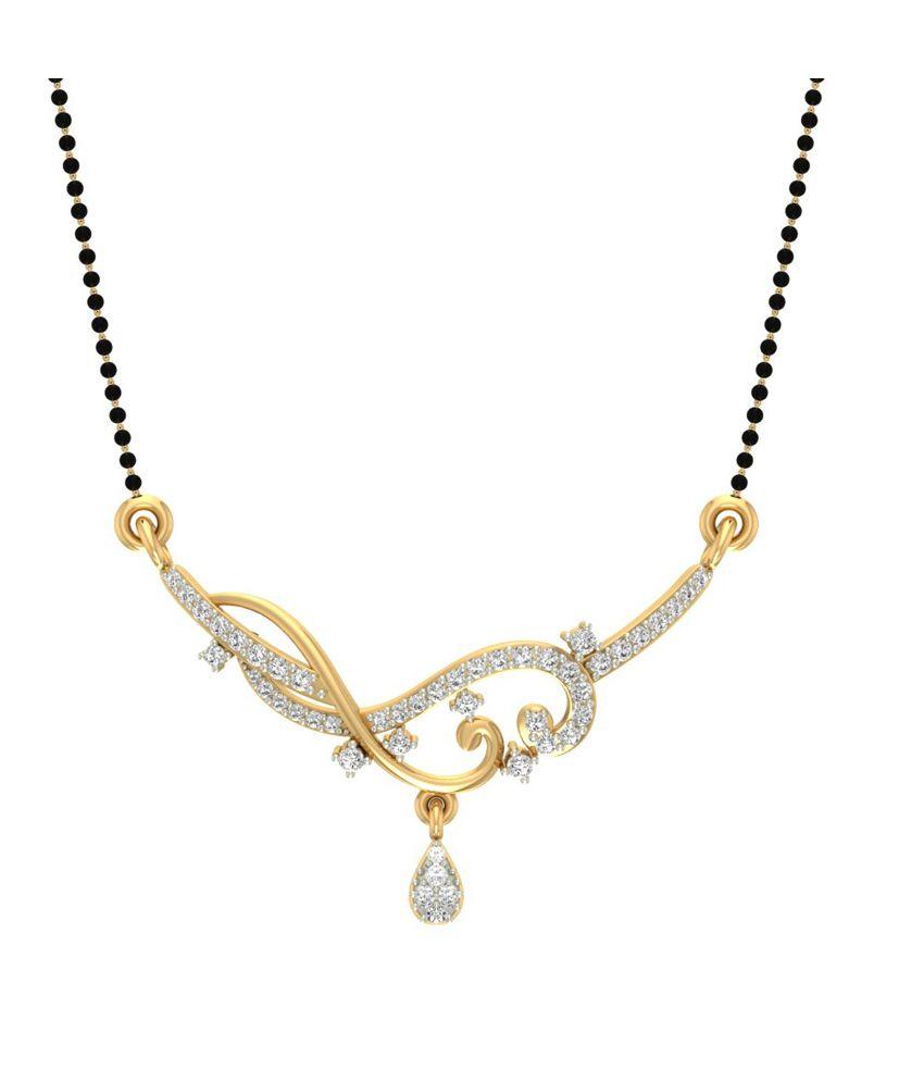 Jewels5 14Kt Gold Diamond Mangalsutra