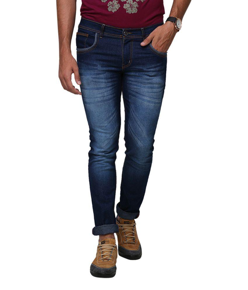 Yepme Walten Blue Denim Jeans - Dark Wash