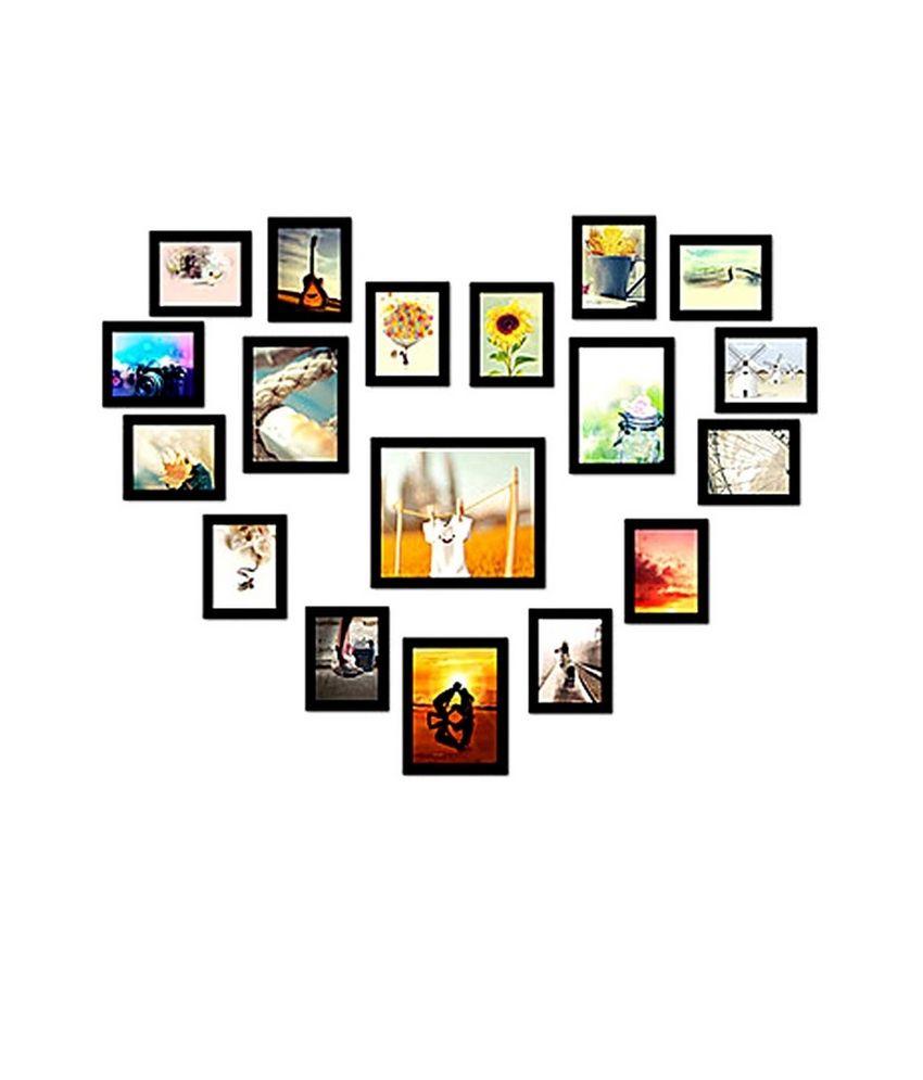 Adorable Photo Frames PVC Wall Hanging Black Photo Frame Sets