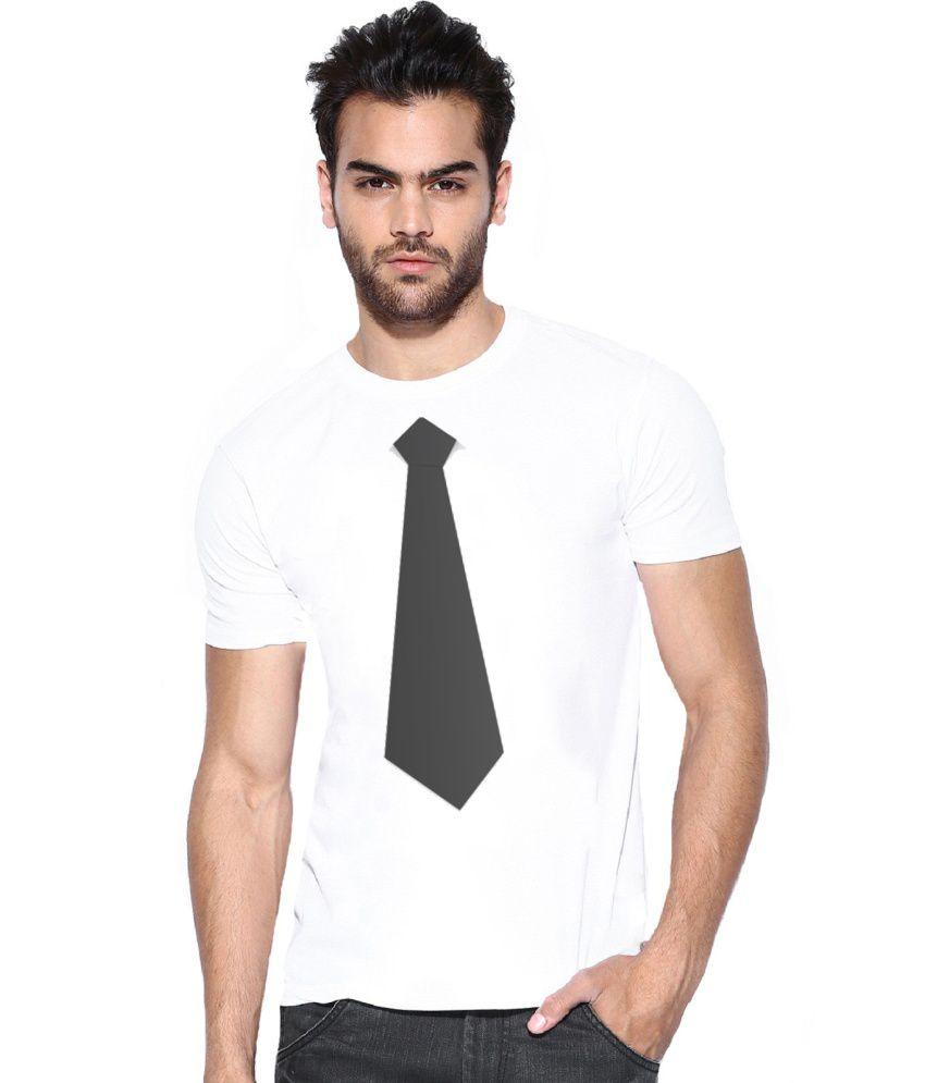 Alpha Scott White Polyester T-shirt
