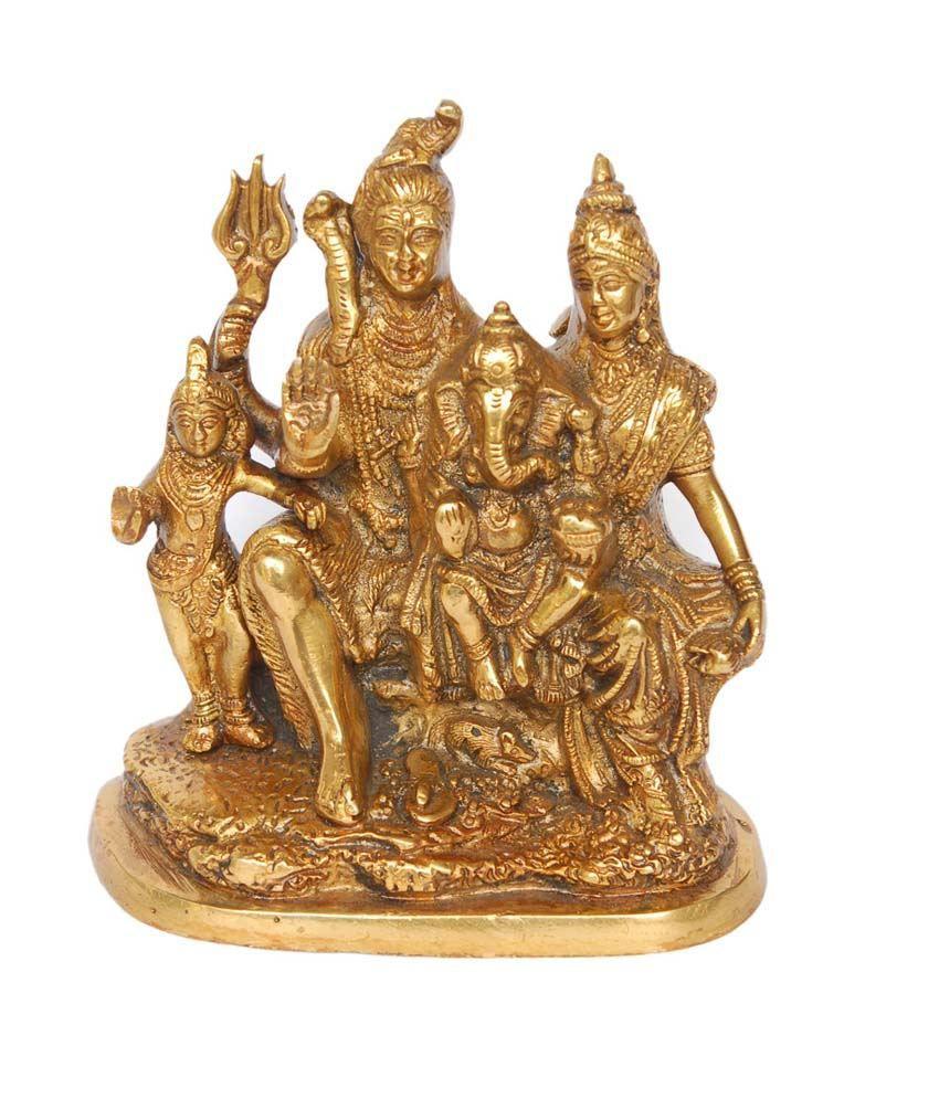 Folkshopz Matte Brass Shiv Parivar Idol