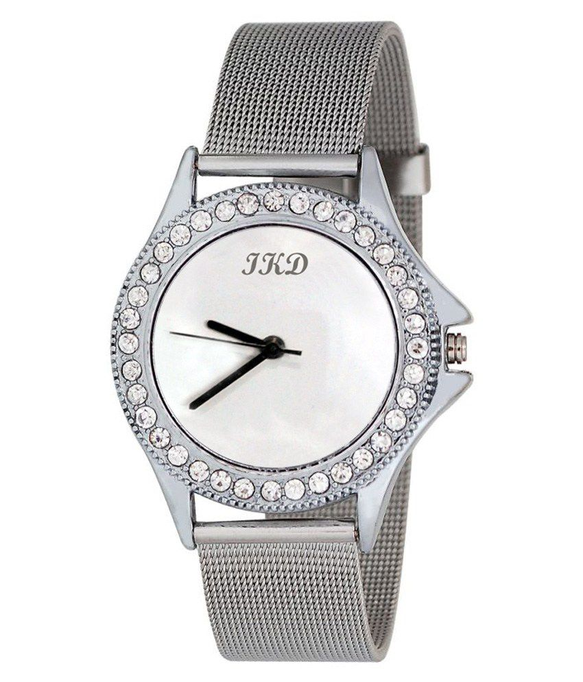 Ikd: Ikd Analog Silver Chain Formal Watch Best Price In India