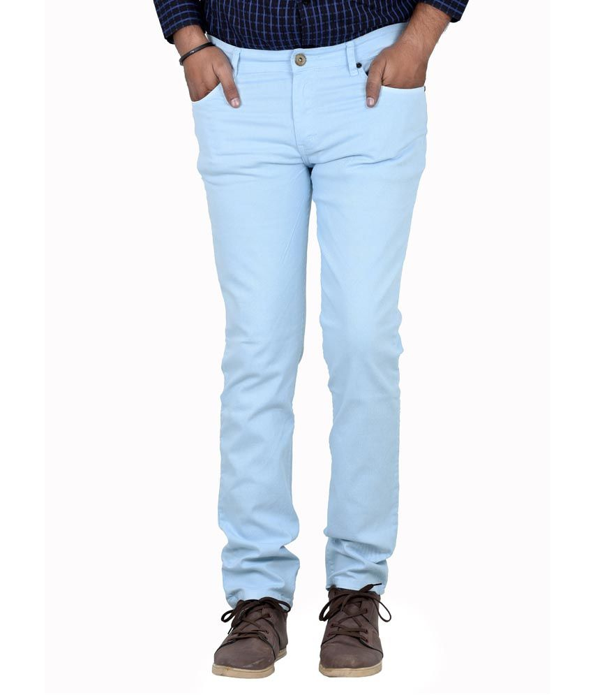 Indigen Blue Cotton Blend Skinny Basics Jeans