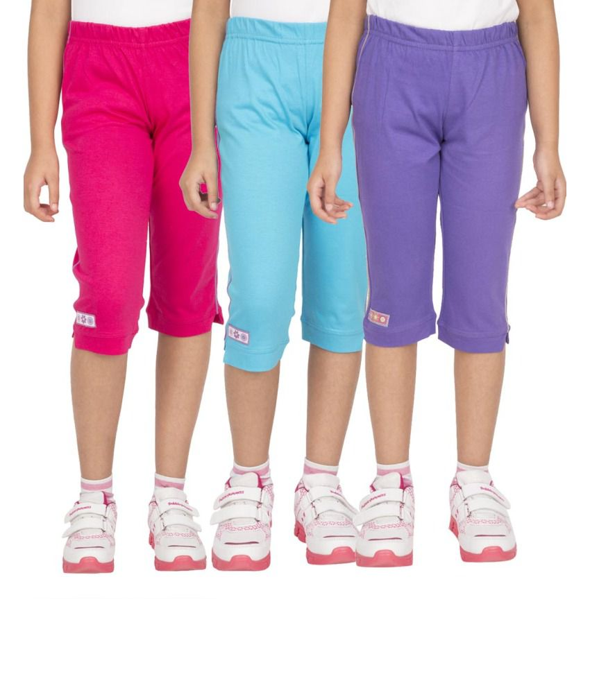 Ocean Race Stylish Cotton Capris - Pack Of 3