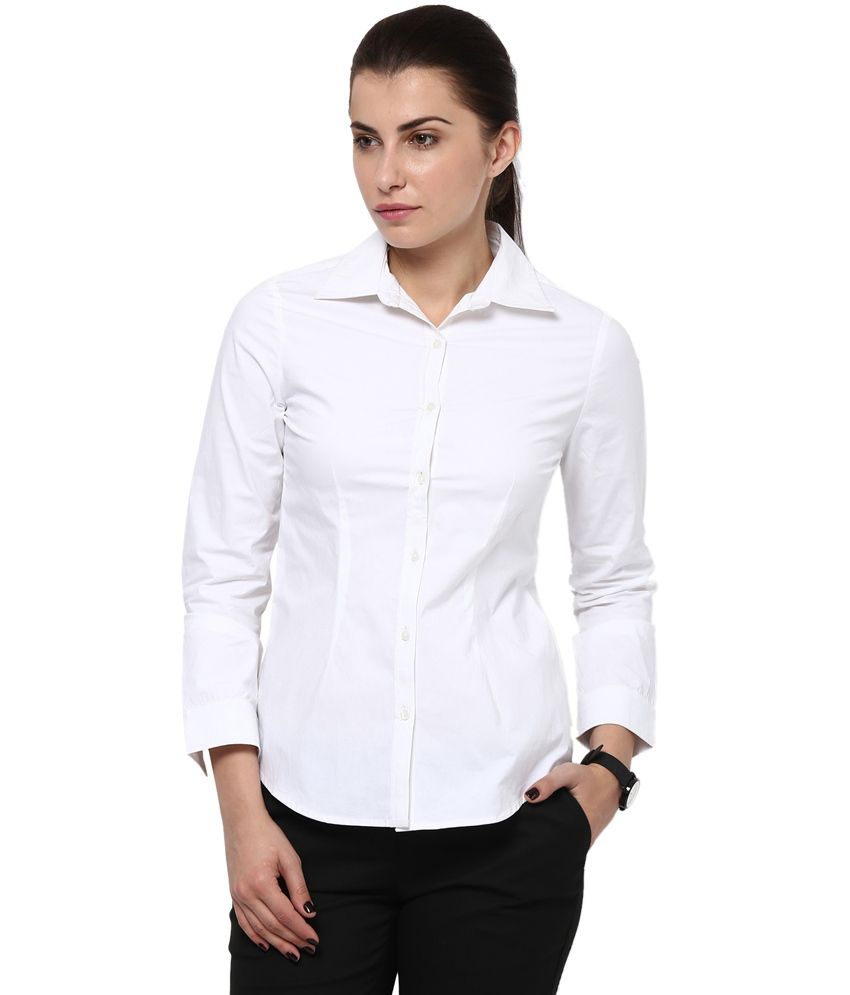 ca0dc7f54d Buy Pooja Fashion White Cotton Shirts Online at Best Prices in India -  Snapdeal