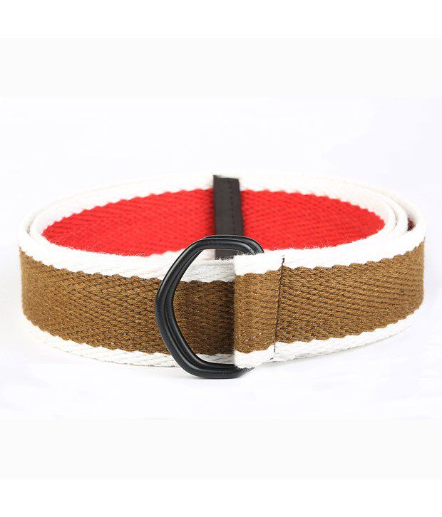 Chisel Brown and White Canvas Casual Belt
